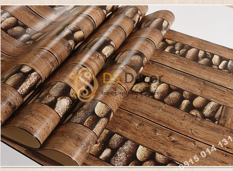 Bề mặt Giấy dán tường gỗ và đá 3D169