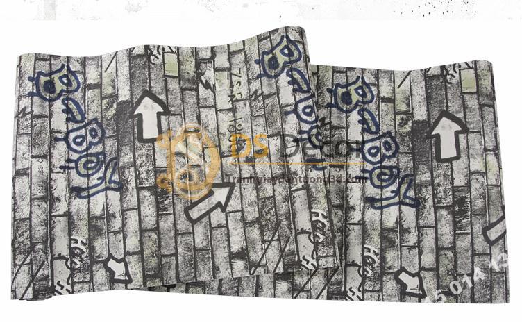 Bề mặt Giấy dán tường kiểu Graffiti hip hop 3d168-503