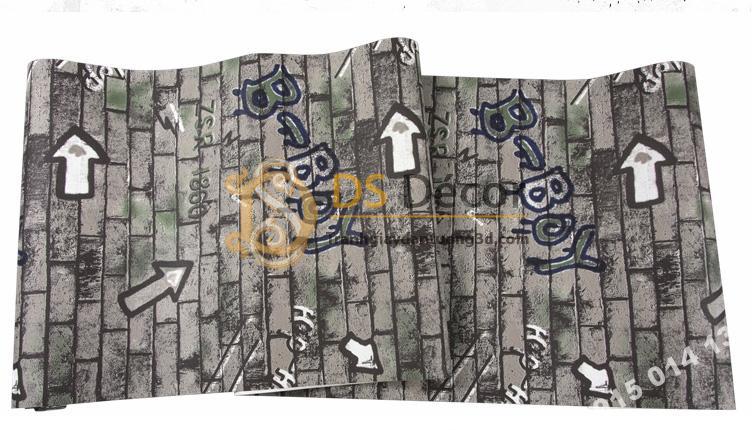 Bề mặt Giấy dán tường kiểu Graffiti hip hop 3d168-504