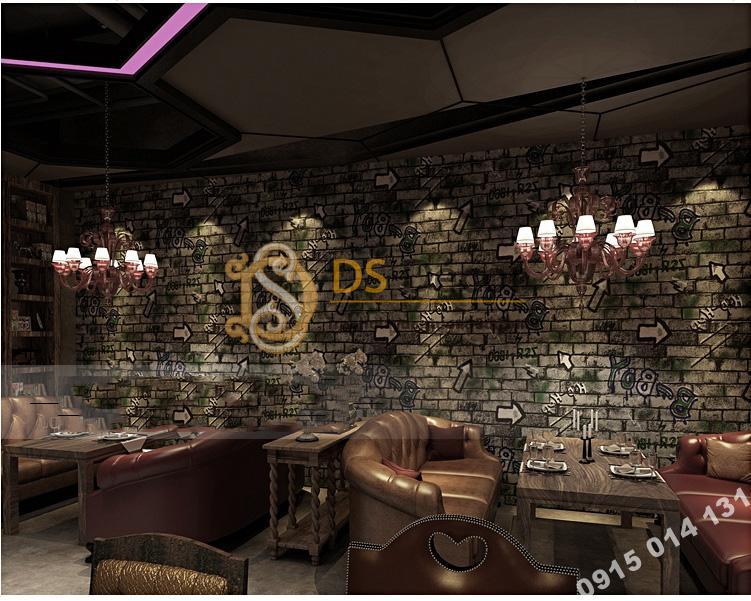 Giấy dán tường kiểu Graffiti hip hop 3d168-504 trang trí quán cà phê