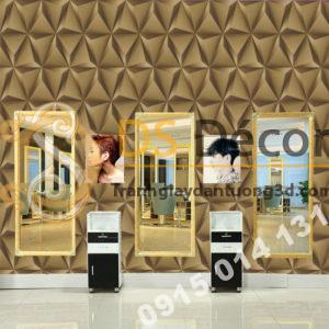 Giay-dan-tuong-hinh-hoc-tam-giac-3d-cho-salon-toc-nha-hang-quan-bar-3D128-mau-nau