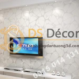 Giấy dán tường họa tiết mạng nhện 3D141 trang trí phòng khách