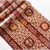 Bề mặt Giấy dán tường khắc gỗ kiểu hoàng cung 3D167 màu đỏ