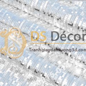 Bề mặt Giấy dán tường khảm vàng bạc màu trắng óng ánh 3D182