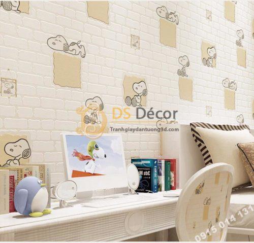 Giay-dan-tuong-phong-tre-em-hoa-tiet-cho-Snoopy-mau-be--3d132