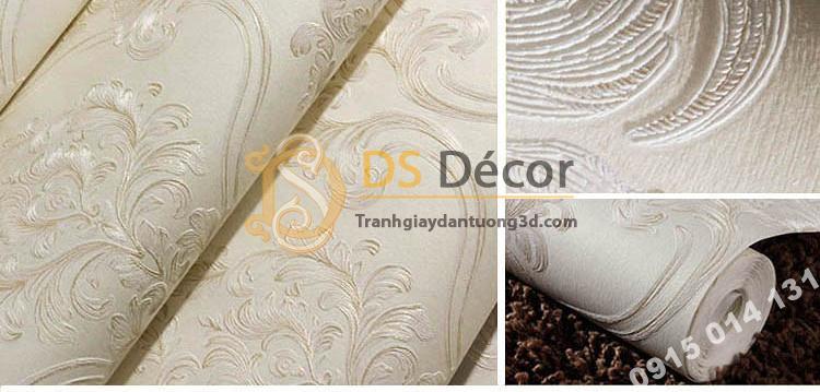 Giấy dán tường họa tiết tân cổ điển 3D148 - màu R1