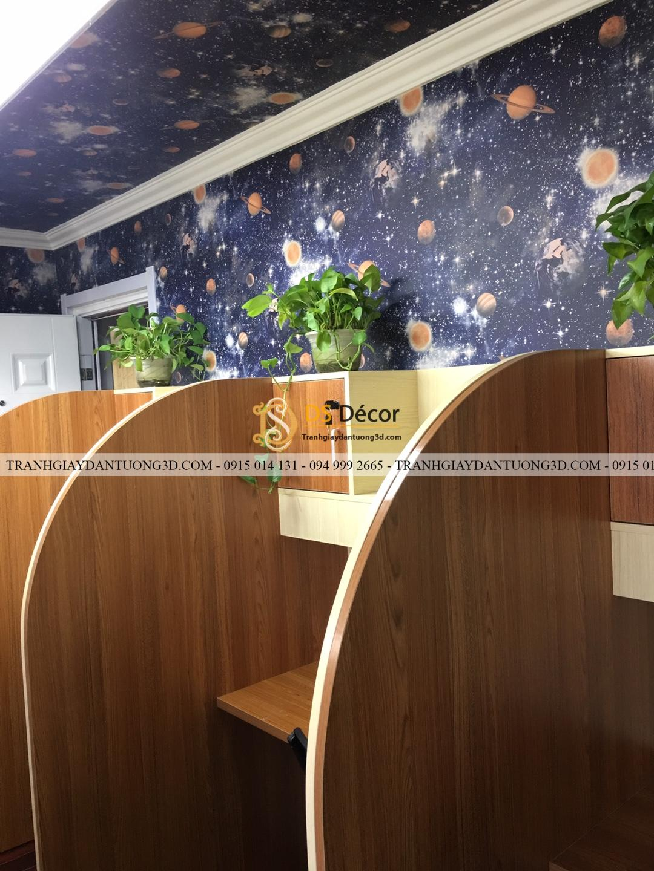 Thi công giấy dán tường ngân hà văn phòng làm việc 3D110_1