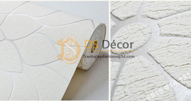 Bề mặt Giấy dán tường hoa cúc 3D161 màu trắng