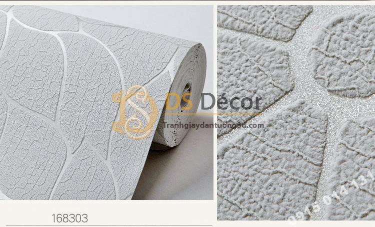 Bề mặt Giấy dán tường hoa cúc 3D161 màu xám