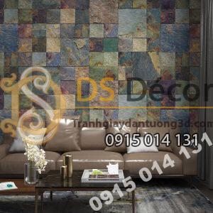 Giấy dán tường Hàn Quốc NATURAL giả đá 87001-3 dán phòng khách