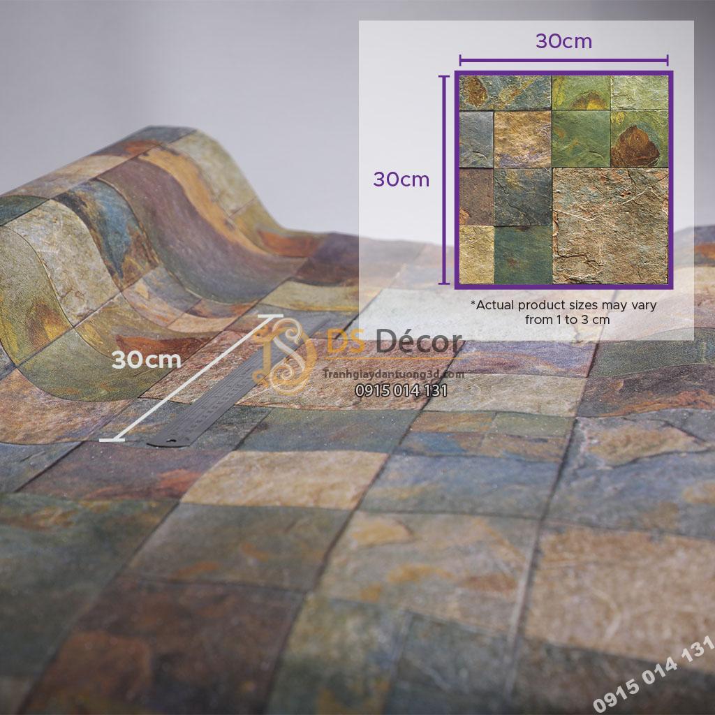 Giấy dán tường Hàn Quốc NATURAL giả đá 87001-3 size họa tiết