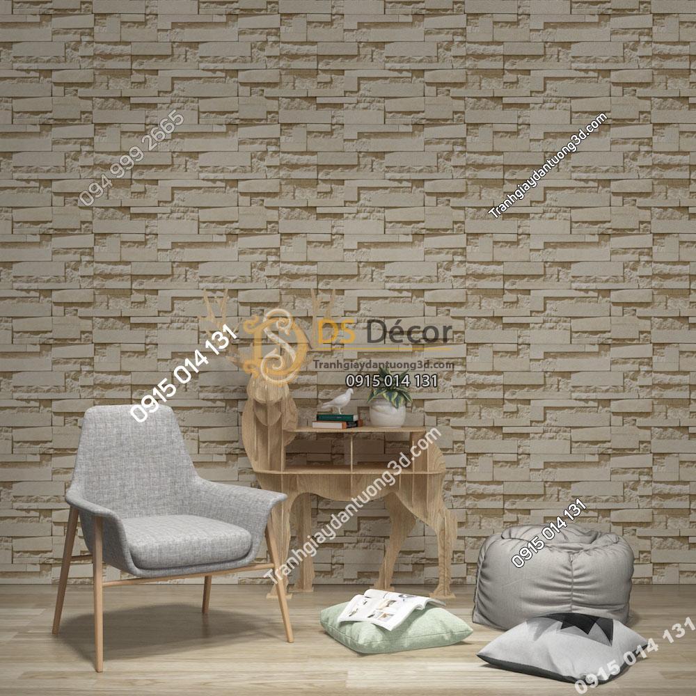 Giấy dán tường Hàn Quốc NATURAL giả đá 87001-3 màu be