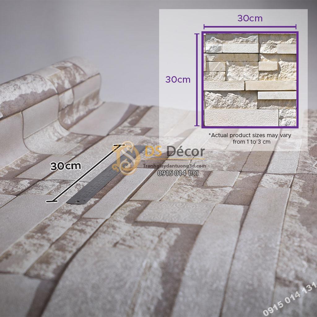 Giấy dán tường Hàn Quốc NATURAL giả đá 87001-2 size họa tiết