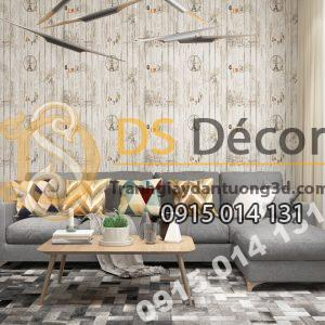 Giấy dán tường Hàn Quốc NATURAL giả gỗ 87004-2 dán phòng khách