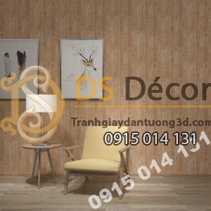 Giấy dán tường Hàn Quốc NATURAL giả gỗ 87005-5 tông nâu dán phòng khách