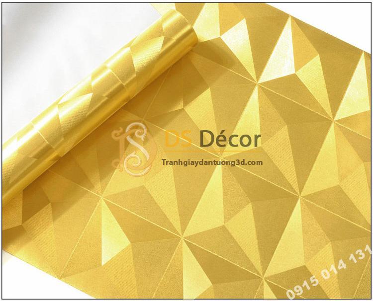 Bề mặt Giấy dán tường dán trần 3D200 màu vàng