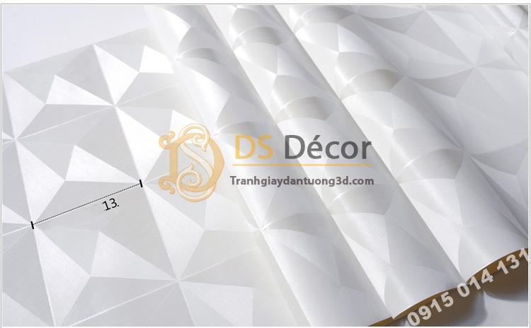 Bề mặt Giấy dán tường dán trần 3D200 màu trắng