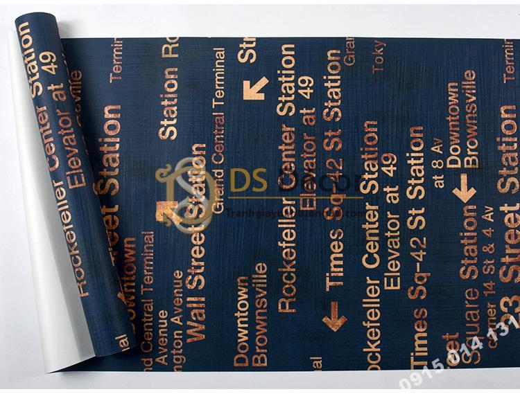 Bề mặt Giấy dán tường chữ cái Phong cách retro 3D207 màu tím