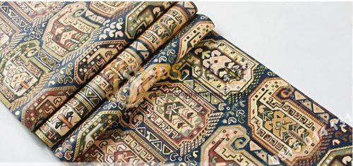 Bề mặt giấy dán tường giả gạch Bohemian Tây Tạng độc đáo 3D208 màu nâu