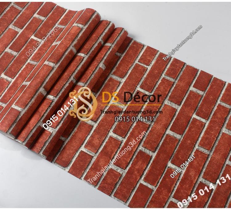 Bề mặt giấy dán tường giả gạch đỏ 3D191