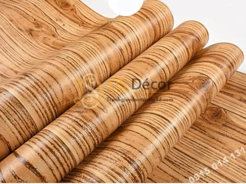 Bề mặt giấy dán tường vân gỗ 3D190 màu đậm