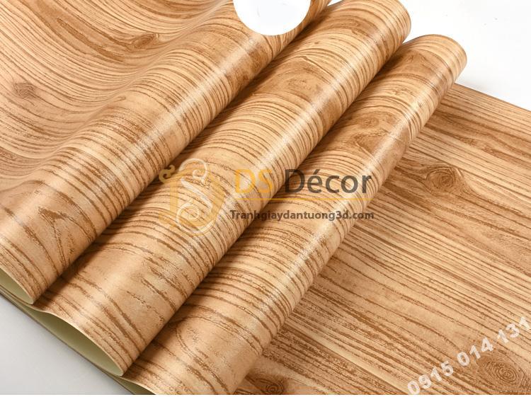 Bề mặt giấy dán tường vân gỗ 3D190 màu nhạt