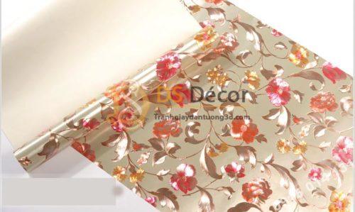 Bề mặt Giấy dán từng hoa ánh kim cho tiệm váy cưới 3D203 màu trắng 151