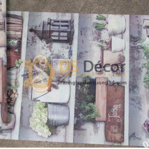 Bề mặt giấy dán tường họa tiết chậu hoa độc đáo 3D205