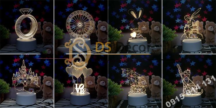 Đèn led 3d trang trí quà tặng độc đáo DTT11 - 01