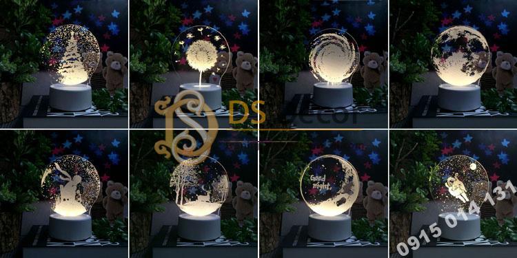 Đèn led 3d trang trí quà tặng độc đáo DTT11 - 02