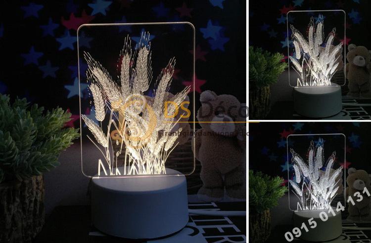 Đèn led 3d trang trí quà tặng độc đáo DTT11 - cỏ lau