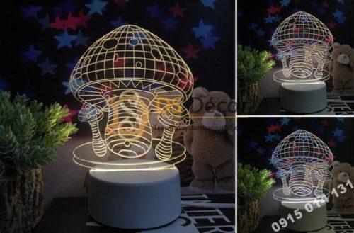 Đèn led 3d trang trí quà tặng độc đáo DTT11 - nấm