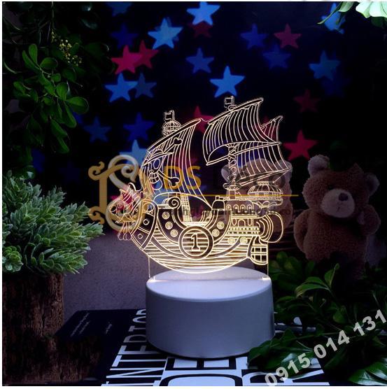 Đèn led 3d trang trí quà tặng độc đáo DTT11 - thuyền buồm