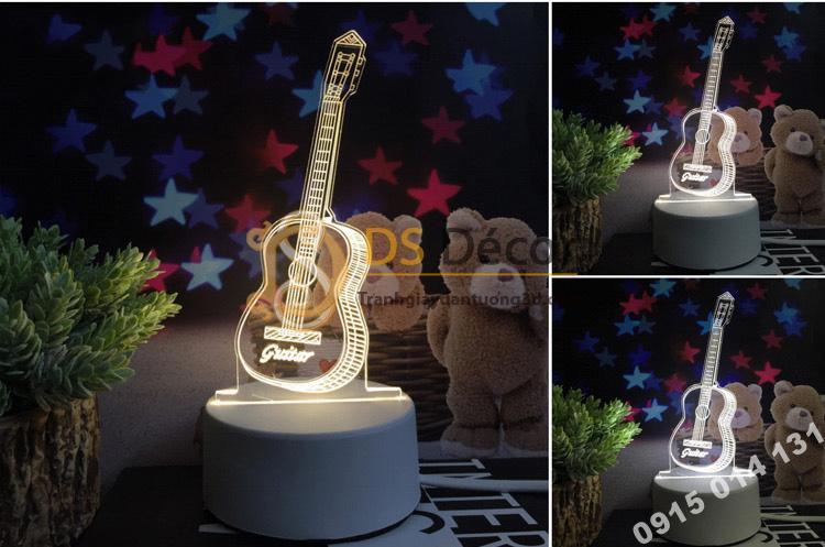 Đèn led 3d trang trí quà tặng độc đáo DTT11 - đàn guitar