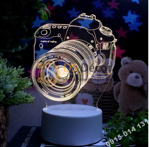 Đèn led 3d trang trí quà tặng độc đáo DTT11 - máy ảnh