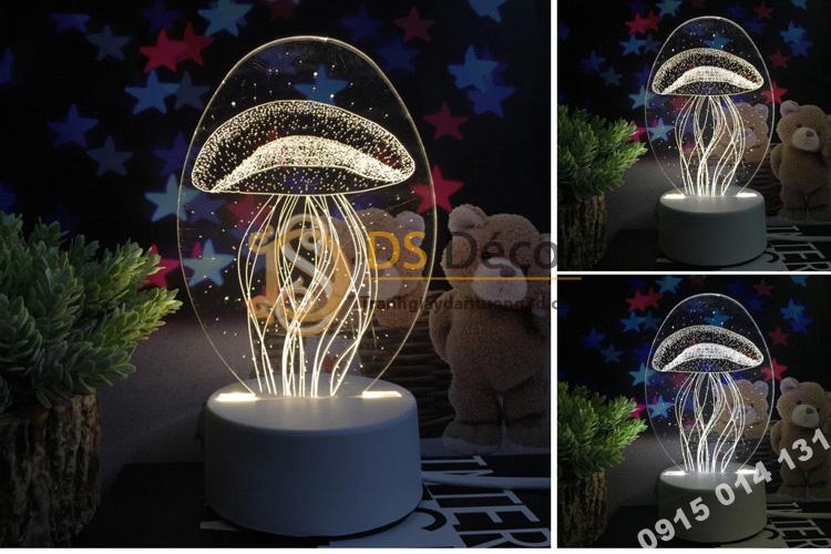 Đèn led 3d trang trí quà tặng độc đáo DTT11 - sứa biển
