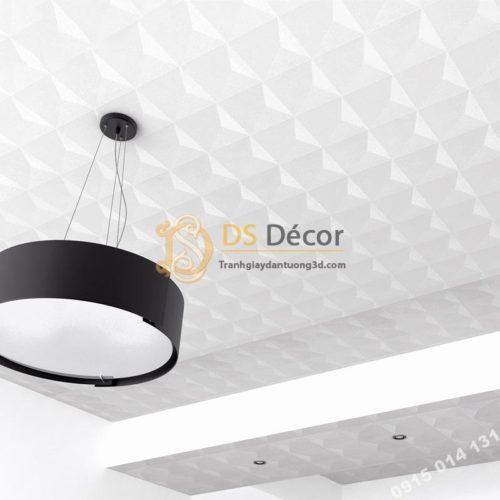 Giấy dán tường dán trần 3D200 màu trắng