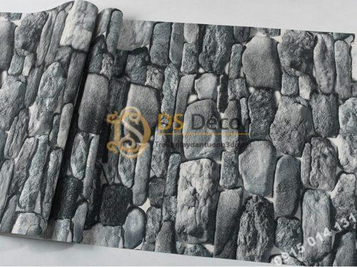 Mặt Giấy dán tường giả đá 3D màu xám 3D192