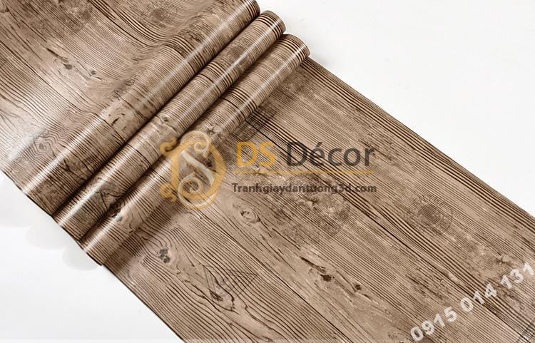 Bề mặt Giấy dán tường giả gỗ xám nâu 3D202 màu nâu