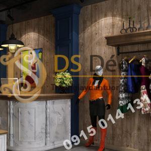 Giấy dán tường giả gỗ xám nâu 3D202 màu nâu