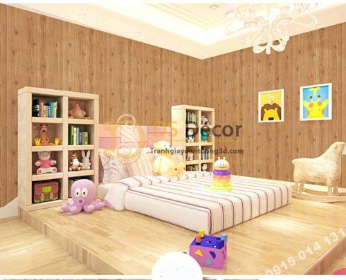 Giấy dán tường vân gỗ 3D190 trang trí phòng bé