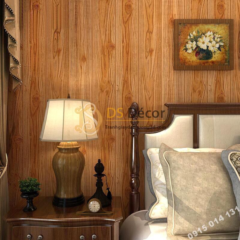 Giấy dán tường vân gỗ 3D190