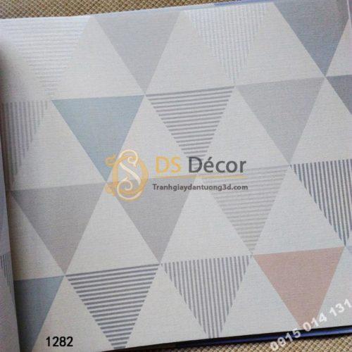 Bề mặt Giấy dán tường hàn quốc hình tam giác 3DH04