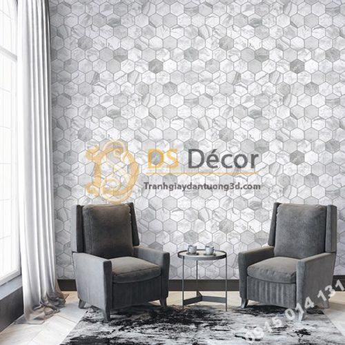 Giấy dán tường hàn quốc họa tiết tổ ong 3DH02