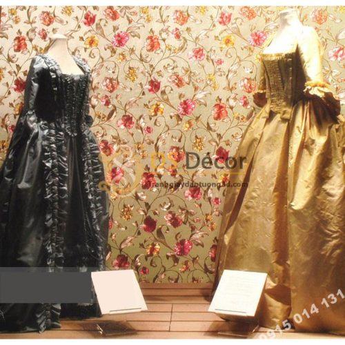 Giấy dán từng hoa ánh kim cho tiệm váy cưới 3D203