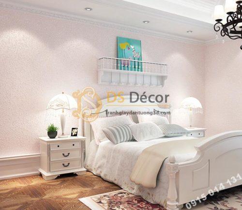 Giấy dán tường kiểu nhám sơn gai 3D204 màu hồng