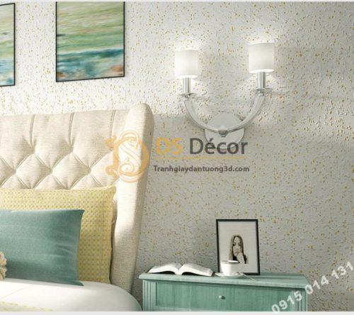 Giấy dán tường kiểu nhám sơn gai 3D204 màu trắng