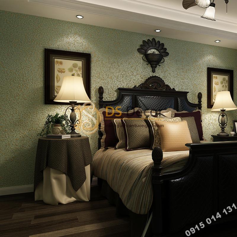 Giấy dán tường kiểu nhám sơn gai 3D204 trang trí phòng ngủ