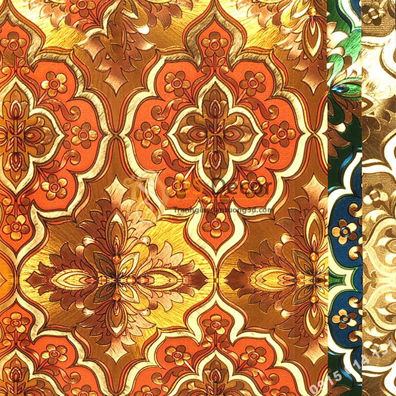 Giấy dán tường phòng thờ hoa cổ điển 3D197