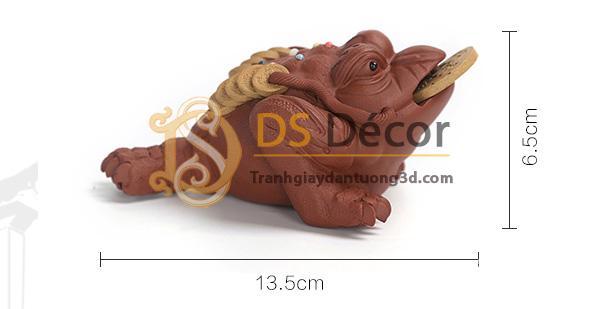 Kích thước Cóc 3 chân ngậm tiền màu đỏ DTT10